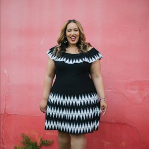 Lane Bryant Knit flounce dress